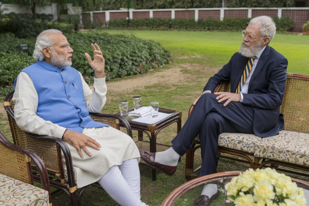 David Letterman Interviews Indian PM Narendra Modi on Climate Change